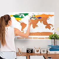 Bild Rubbel-Weltkarte XXL, 88 x 52 cm