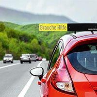 Bild Auto Pannenfächer mit  5 Hinweistafeln