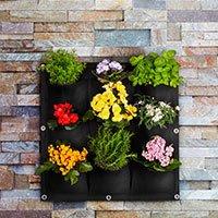 Bild Pflanzen- und Kräuterwand, 9 Taschen