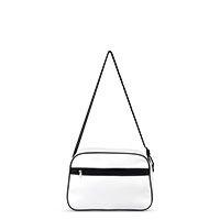 Bild stylische Sporttasche mit Retro-Streifen