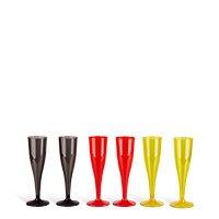 Bild Champagnergläser aus Kunststoff, 6 Stück