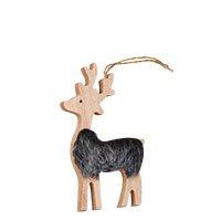Bild Weihnachtsdeko: Rentier mit Fell aus Holz