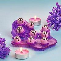Bild Massagehandschuh mit Edelstahlkugeln