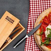 Bild Steak- & Pizzamesser in Holzbox , 4 Stück